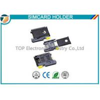 China High Temperature SMT Sim Card Connectors For Micro Sim Cellular Phones on sale