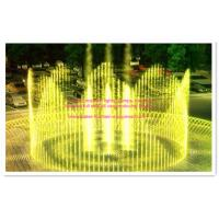 China Stainless Steel Running Fountain Water Pipe Frame With LED Underwater Lights 2 Big Round on sale