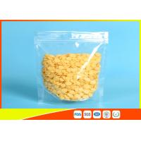 China PET/ PE Clear Plastic Zipper Stand Up Ziplock Bags Dry Food Grade Packaging Bags wholesale