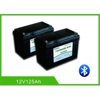 China Patent Bluetooth Deep Cycle RV Battery , Lithium Camper Trailer Battery12V 125Ah wholesale