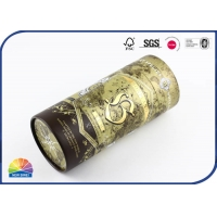 China Wine 4c Print Foil Stamping Paper Packaging Tube on sale