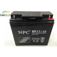 China 12 Volt 17Ah Deep Cycle Sealed Battery for Emergency Equipment wholesale