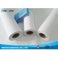 China 42 / 44 Matte Coated Inkjet Paper Rolls Wide Format Printing Anti Fading on sale