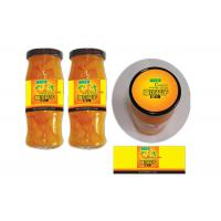 China Yellow Coated Paper Printed Self Adhesive Labels For Glass Bottle Canned Fruit wholesale