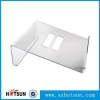 China Acrylic Notebook Holder, Lucite Laptop Desk stand, Plexiglass Notebook Riser wholesale