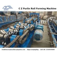 China C Z Purlin Plastic Forming Machine High effiency with touch screen wholesale