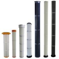 China High Efficiency Industrial Dust Filter With PU / Rubber Top End Cap Long Life on sale