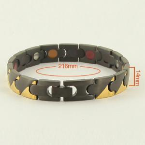 China Improve Arthralgia Stainless Steel Black Medical Id Bracelet,Bio Element Bracelet wholesale