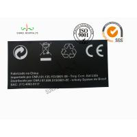 China Back Ground Custom Logo Print Sticker Labels Synthetic Paper Black Color wholesale