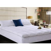 China Four Corners Elastic Hotel Mattress Topper Soft 180-300T Thread Count wholesale