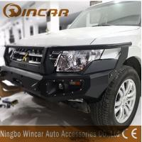 China Aluminum 4x4 Off-road Accessories Black Front Winch Bumper For Pajero V93 wholesale