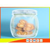 China Clear Stand Up Ziplock Bags , Zip Pouch For Food / Snack / Tea Storage wholesale