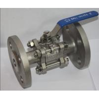 """China Full Bore 1/2"""" SS304 3PC Flange Type Ball Valve , Blow Out Proof Stem wholesale"""