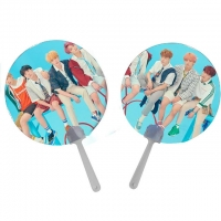 China 0.6mm PET Lenticular 3D Moving Fan BTS EXO Of Super Stars wholesale