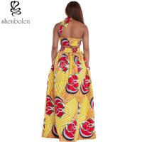 Quality Sexy Halter Neckline Short Top African Print Dresses Maxi Ankara Wax Batik for sale