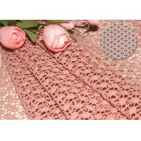 China 47 Inches Guipure French Venise Lace Fabric / Embroidered Dress Fabric By Azo Free wholesale