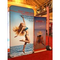Quality Tension Fabric Banner stands , Fabric tube display Aluminium Material for sale