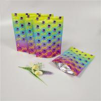 China Double Zipper Custom Printed Stand Up Pouches Laminated Aluminum Foil Bags shiny Surface wholesale
