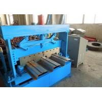China 1219 mm Width Metal Floor Deck Roll Forming Machine with Automatic Hydraulic Cutter wholesale