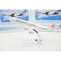 China Asian Dragon Air Cargo Stand Scale Model Airplanes  , Child Gift Resin Airplane Model Kits on sale