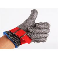 China SS304 Stainless Steel Safety Gloves , Metal Mesh Gloves For Cutting wholesale