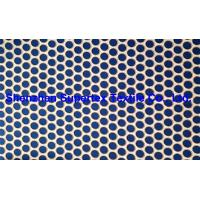 China Soft Beachwear Fabric Polyester Twill Microfiber Peach AOP Print Orange Blue Dots wholesale