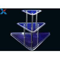 China Clear 3 Layer Acrylic Wine Holder , Lucite Display Stands Durable And Chemical Stability wholesale