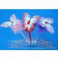 China Promotional butterfly-shaped feather ballpoint pens, various sizes are available wholesale