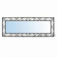 China Framed Mirror, Measures 9 x 33 Inches, Made of Wire Metal and Mirror wholesale