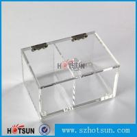 China 2016 newest clear/plexiglass customised acrylic small boxes with lid wholesale