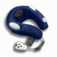 China Electronic Neck Massager with Cyber Controller and 100% Terylene Fabric Cover wholesale