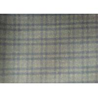 China Lovely Plaid Wool Fabric Grey , 720g/m Lightweight Tartan Fabric plaid style wholesale