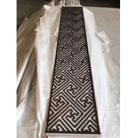 China Metal Wall Decoration Pendant Plating Screen , Space Division Abstract Metal Wall Sculpture wholesale