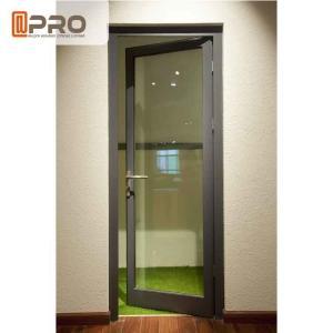 China Water Penetration Prevent Aluminium Hinged Doors 1.2-2.0MM Profile Thickness wholesale