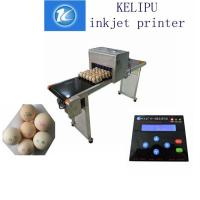 China Electric High Output Egg Inkjet Marking Machine With 1 - 4 Printing Lines wholesale