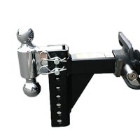 """China Black Chrome Trailer Spare Parts 7500lbs 7-1/2 """" Adjustable Dual Ball Hitch wholesale"""