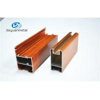 China Nature Color Wooden Grain Aluminium Door Frames Alloy 6063 ISO Approval wholesale
