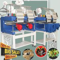 China Same as Tajima/ swf/happy embroidery machine HOLiAUMA newest 2 head embroidery machine for cap/t shirt/flat on sale