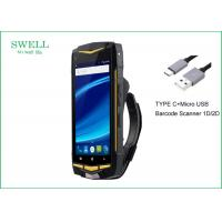 China Barcode Scanner Android 7.0 Rugged Waterproof Smartphone With CE ROHS FCC Certification wholesale