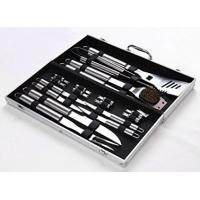 China 18 Pieces Stainless Steel BBQ Set with Aluminum Storage Case - Heavy Duty Professional Outdoor Barbecue Grill Tool wholesale