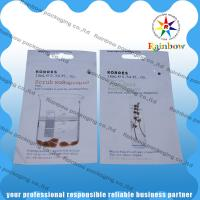 China Korres Comestic Packaging Bag With Clear Window And Handle Hole wholesale