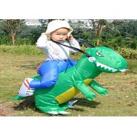 China Dinosaur Costume Suit Children'S Inflatable Garden Toys , Green / Yellow Inflatable Baby Toys wholesale