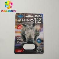 China 3D Rhino Blister Card Packaging Rhino 12 Rhino 11 Mens Sexual Supplements For Boosting Libido wholesale