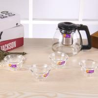 China LW-K21 Glass Water Kettle Glass Water Bottle With Tea Filter Heat Resitance wholesale
