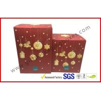 China Foldable Corrugated Tin Package , Pop Up Decorative Christmas Gift Boxes With Lids wholesale
