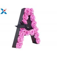 China Luxury Rose Gift Acrylic Flower Box A Letter Flower Box With Lid Non - Toxic wholesale