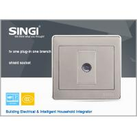 Buy cheap modern design wall switch and socket, 1Gang TV  wall switches and sockets Satellite Television socket with Computer sock from wholesalers