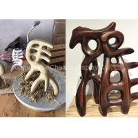China Retro Style Chinese Character Statues , Giant Fiberglass Statues Museum Decorations on sale