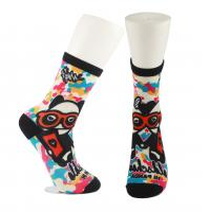 China Adults  OEM Service  Breathbale Eco-friendly Custom Made Size 3D-Printing Socks wholesale