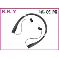 China Neckband Bluetooth Headphone with Luxurious Materials and Retractable Foldable Earbuds wholesale